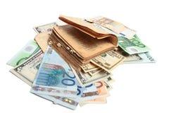 деньги книги старые Стоковая Фотография RF