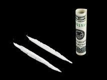 деньги кокаина Стоковые Фото