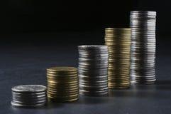 деньги колонки Стоковое Изображение