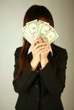 деньги коммерсантки Стоковое Изображение RF