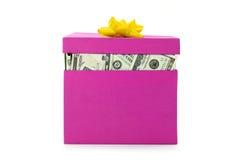 деньги коробки Стоковые Изображения