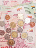 Деньги королевства Таиланда Стоковые Фотографии RF