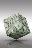 деньги кубика банка финансовохозяйственные Стоковое Фото