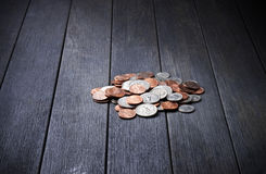 Деньги кучи чеканят предпосылку Стоковые Изображения RF