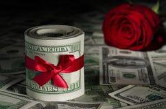 Деньги к американским долларам Стоковое Изображение RF