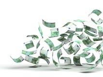 деньги летания евро Стоковое фото RF