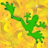деньги лягушки иллюстрация вектора