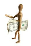 деньги манекена удерживания Стоковые Изображения
