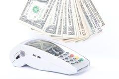 деньги машины кредита карточек Стоковая Фотография