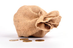 деньги мешка Стоковое Изображение