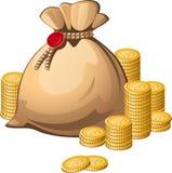 деньги мешка Стоковая Фотография