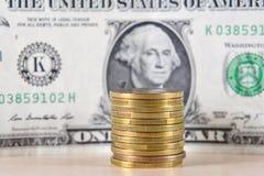 Деньги, монетки, обмен стоковая фотография rf