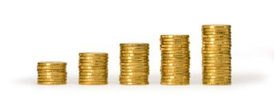 деньги монетки штабелируют значение стоковая фотография rf