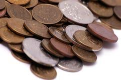 деньги монетки Стоковые Изображения