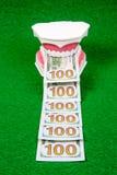 Деньги модели и доллара зуба Стоковая Фотография