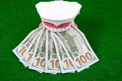 Деньги модели и доллара зуба Стоковое Фото