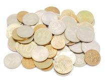 Деньги на белизне стоковое изображение