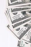 Деньги на деревянном столе Стоковое Изображение