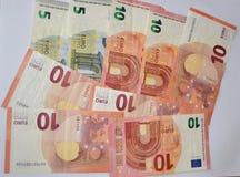 Деньги, наличные деньги, предпосылка валюты Стоковая Фотография RF