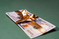 Деньги наличных денег присутствующие u S валюта Стоковое Фото