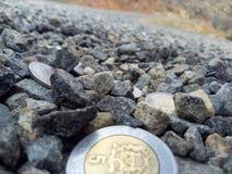 Деньги на дороге Стоковая Фотография