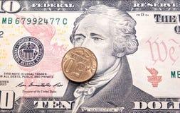 Деньги на долларе Стоковые Изображения