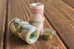 Деньги на столе Стоковое Изображение RF