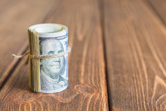 Деньги на столе Стоковое фото RF