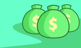 Деньги на сумке Стоковое фото RF