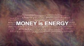 Деньги облако слова энергии Стоковое Фото