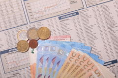 Деньги обменом Стоковые Изображения