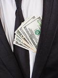 Деньги около сердца Стоковое Фото