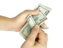 деньги отсчета Стоковое Изображение