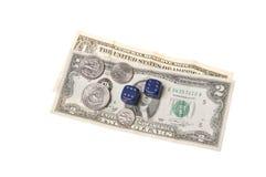 деньги плашек монеток Стоковое Изображение