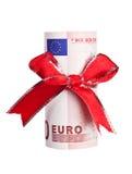 деньги подарка евро Стоковые Изображения