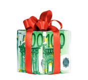 деньги подарка коробки Стоковые Изображения