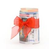 деньги подарка Стоковые Изображения