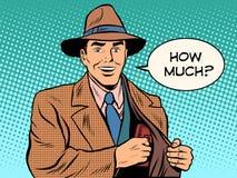 Деньги портмона насколько мужского бизнесмена бесплатная иллюстрация