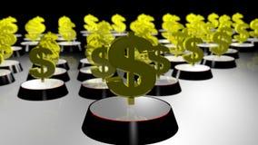 Деньги подписывают внутри текстуру золота Стоковое Изображение