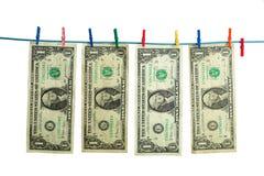 деньги прачечного Стоковая Фотография RF