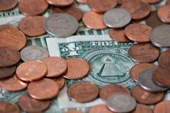 деньги предпосылки Стоковые Изображения