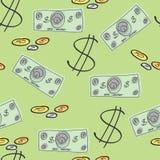 Деньги - предпосылка Стоковые Изображения