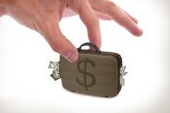 Деньги приемистости руки с изолятом Стоковые Изображения RF
