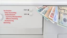 деньги принципиальной схемы laundering стоковая фотография rf