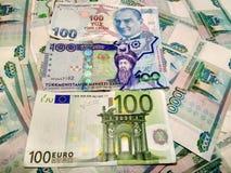 Деньги различных стран стоковое изображение rf