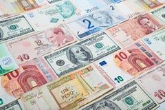 Деньги различных стран бумажные Стоковые Фото