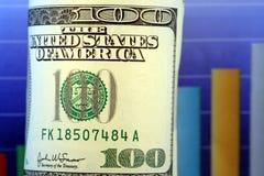 деньги роста столбиковой диаграммы стоковые фотографии rf