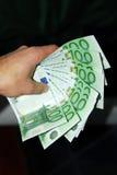 деньги руки евро Стоковые Фотографии RF