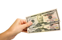 деньги руки Стоковое Изображение RF