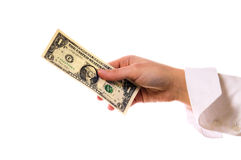 деньги руки Стоковое Изображение